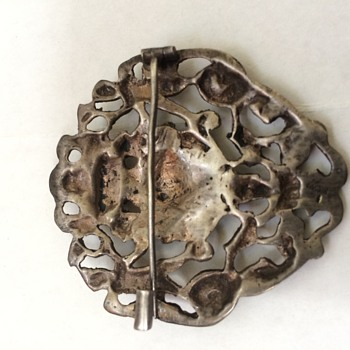 Antique Silver Brooch Pin