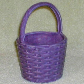 Haeger Pottery Purple Basket