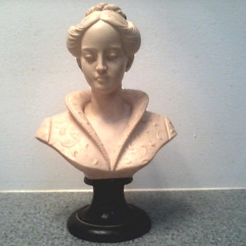 "Vintage Arnoldo Giannelli "" Bust of a Woman in a Medici Collar"" / Recomposed Stone / Circa 1960's"