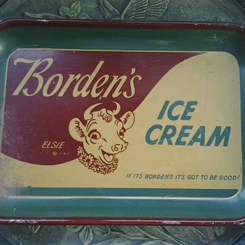 Borden's Ice Cream Serving Tray - Advertising