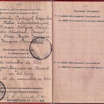 Brasil Diplomatic passport 1954 - Paper