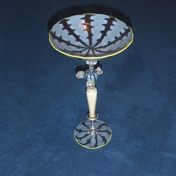 Modern Art Glass Compote by Lenz (#2/ 3) - Art Glass