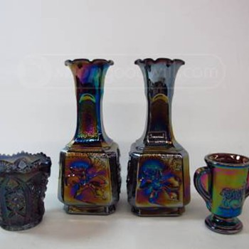 Imperial Lenox Vases and unknown spooner.