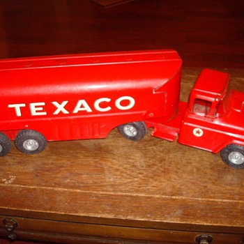 Buddy L Trucks - Fire Trucks, Texaco Tanker, Dump Truck - Model Cars