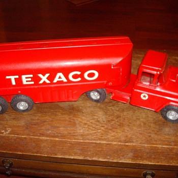 Buddy L Trucks - Fire Trucks, Texaco Tanker, Dump Truck