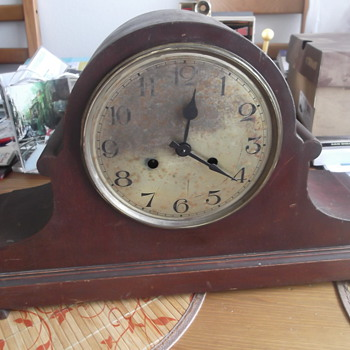 Antique Large Mantel Clock - Clocks