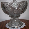 Possible American Brilliant Cut Glass Compote, Footed Bowl, or Punchbowl ???????