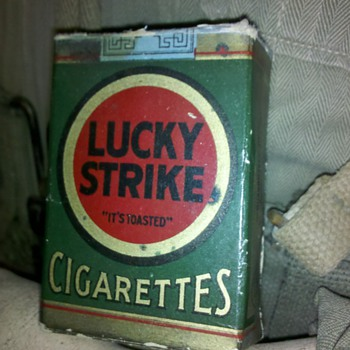 "WWII 1940's era ""DUMMY"" cigarettes Lucky Strike"
