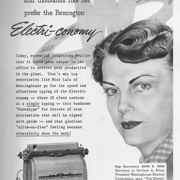 1951/52 - Remington Rand Typewriter Advertisements - Advertising