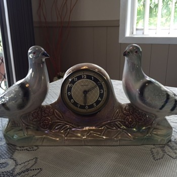 Jema Holland Large Double Pigeon Clock (Version 1) numbered (428)