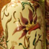 Hungary  Zsolnay 14 inch Vase, from thrift store,  know nothing about it, but pretty!!