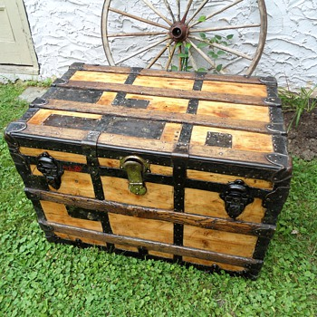 "Antique Trunk Industrial ""Patches"" - Furniture"