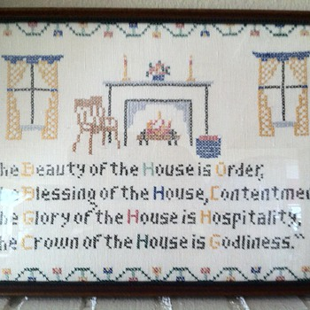 "16"" x 11"" The Beauty of the House is Order"" - Folk Art"