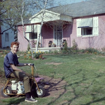 1960&#039;s Summer Time With A Mini Bike (What Fun) - Photographs