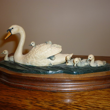 Swan set in glass