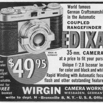 1954 - Edixa Camera Advertisement - Advertising