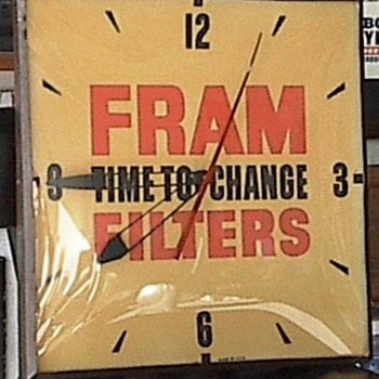 Fram Filters Clock - Clocks