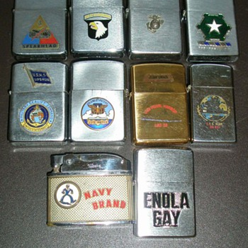Military Lighters Most Are Zippo's - Military and Wartime