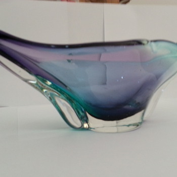 ART GLASS PURPLE & BLUE CASED