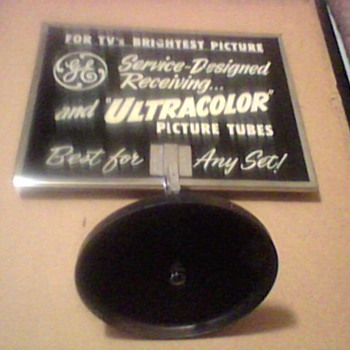 GENERAL ELECTRIC TUBE ADS MIRROR