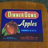 (NOS) New Old Stock - Dinner Gong Apples Fruit Crate Label
