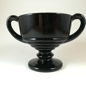 Black depression glass sugar bowl