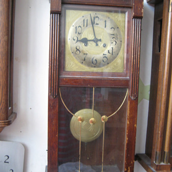 Antique 1890's German Gustav Becker wall clock. - Clocks