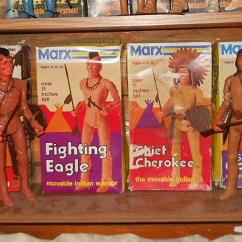 Marx Johnny West Chief Cherokee Fighting Eagle Mod Boxes