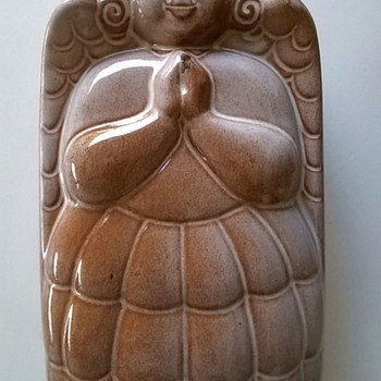 West German Pottery Angel Mold 1950s-1970s