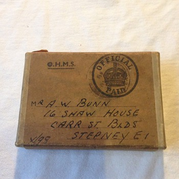 Medal posted box  - Military and Wartime