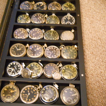 Radium dial pocket watch collection - Pocket Watches