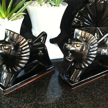 Japanese Ceramic Lions-