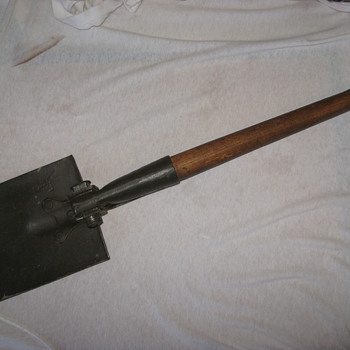 military pick-shovel 1950 ? has various markings or hallmark's.