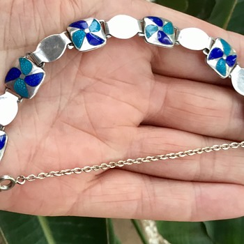 Stainton Brother Silver and Enamel Bracelet - Arts and Crafts
