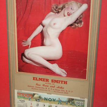 "Gin-u-wine 1953 Marilyn Monroe ""Golden Dreams"" calendar"
