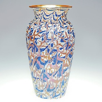 DURAND MOORISH CRACKLE  - Art Glass