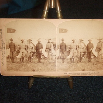 Rough Riders Stereoviews c. 1898 - Military and Wartime