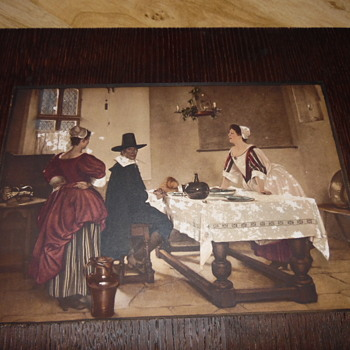 Old Master Lithograph/Etching/Woodcut Quaker With ladies