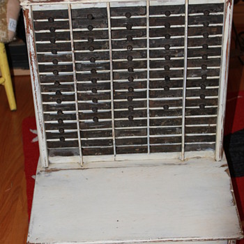 Antique receipt cabinet