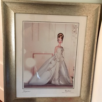 "Framed ""Portrait"" of Barbie - Fashion Model Joyeux from 2003"
