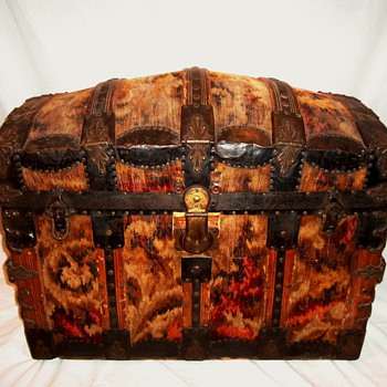 Antique Tapestry Trunk - Furniture