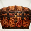 Antique Tapestry Trunk