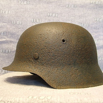 WWII M42 German Helmet - Military and Wartime