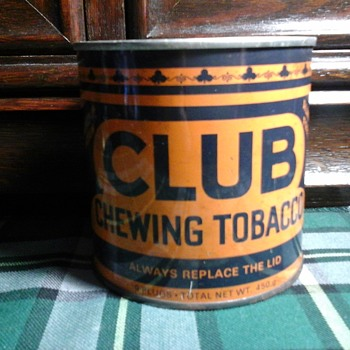 CLUB TOBACCO TIN - Tobacciana