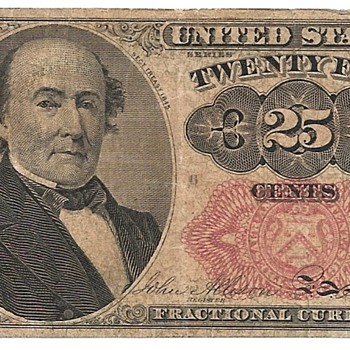 25 Cent Fractional Currency 1874 - US Paper Money