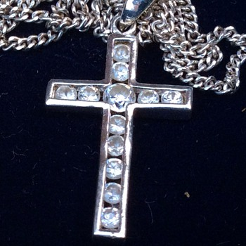 Vintage or antique diamond cross