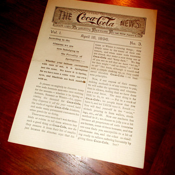1896 The Coca-Cola News - Coca-Cola