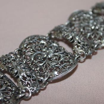 Chunky Filigree Napier Bracelet - Costume Jewelry