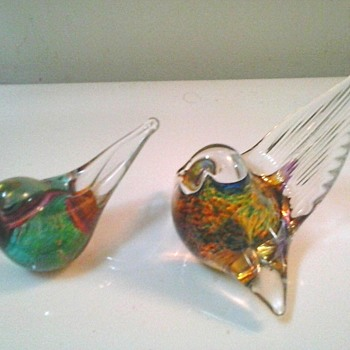 O & M Hoglund Art Glass Birds-Paper Weights /Australia-New Zealand / Circa 21st Century - Art Glass