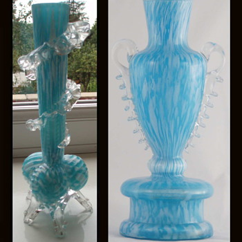 Welz Ribbed Tri-Ball Foot - A Unique Design Marker  - Art Glass